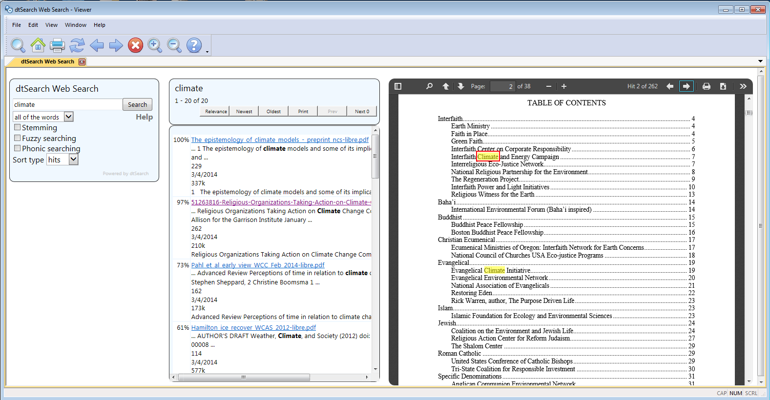 dtSearch Publish with PDF Highlighter
