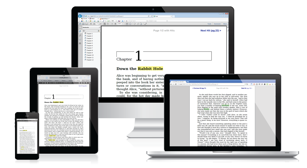 JObjects Highlighter outputs PDF files compatible with different devices and PDF readers
